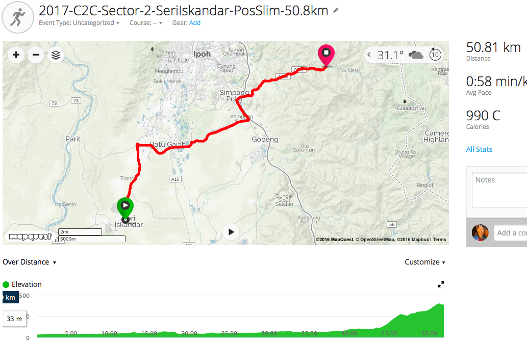 race route image map